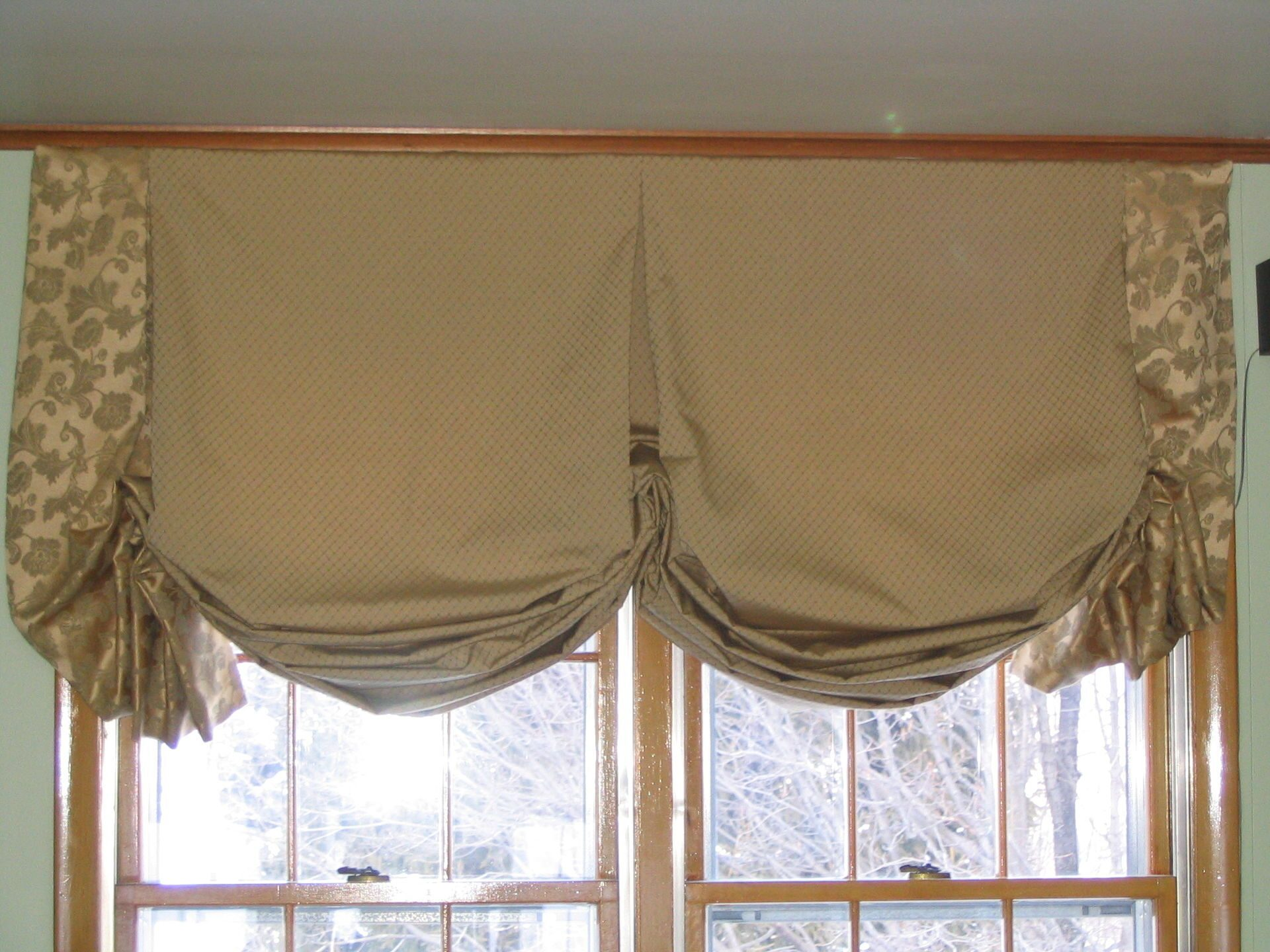 Австрийская подъемная штора своими руками